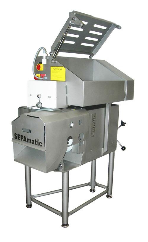 separadora industrial sepamatic 410 para alimentación