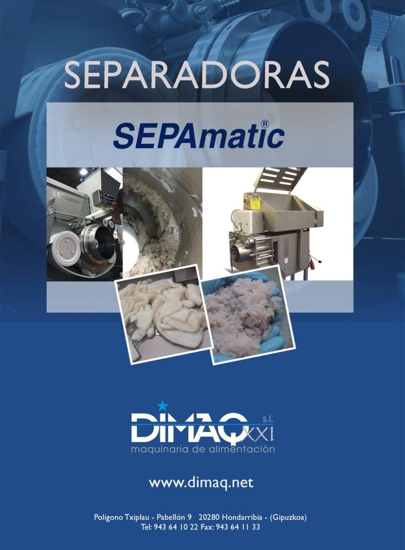Cartel de la presentación de las separadoras Sepamatic