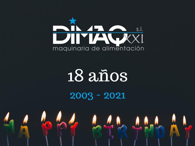 18 aniversario: Dimaq cumple 18 años vendiendo maquinaria de alimentación