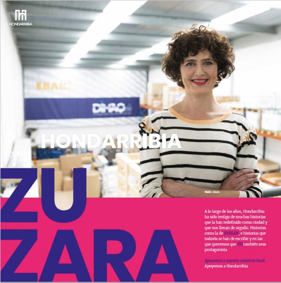 """apoyo a la industria local participando en la campaña """" Hondarribia zu zara"""""""